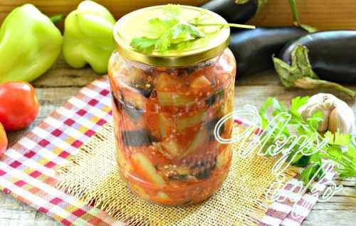 Рецепт помидоров с баклажанами на зиму, секреты