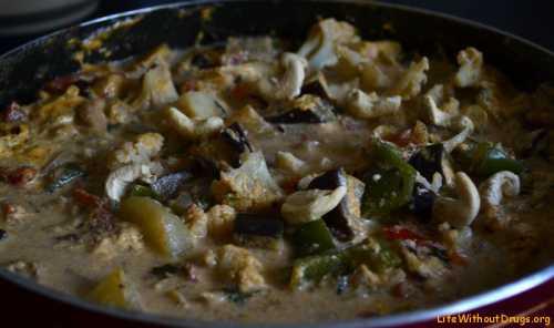 Индийские рецепты Навратан корма и лепешки с зеленью