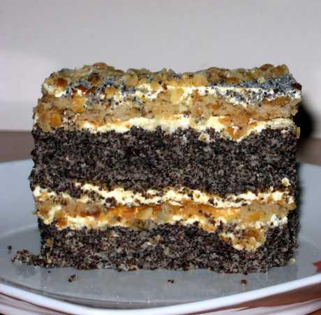 Рецепты трёхслойного торта Сказка с маком,