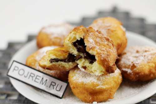 Румяные пончики с начинкой