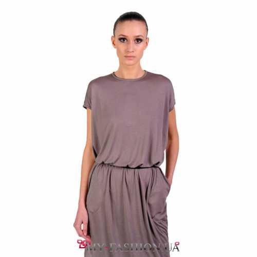 Модное платье миди