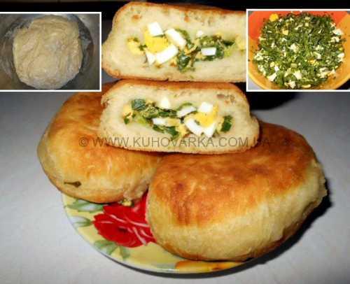 Пирожки с яйцом в духовке и на сковороде
